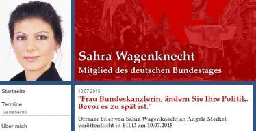 Wagenknecht Offener Brief