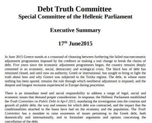 debt truth comitee