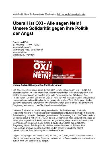 OXI! Alle sagen Nein - Aufruf 3. Juli 2015 header
